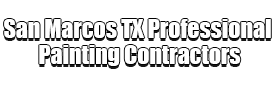 San Marcos TX Professional Painting Contractors Logo-We offer Residential & Commercial Painting, Interior Painting, Exterior Painting, Primer Painting, Industrial Painting, Professional Painters, Institutional Painters, and more.